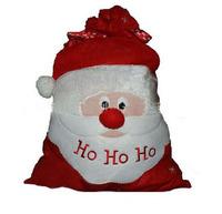 Free Shipping 10pcs/Lot Christmas Santa Sack Stocking Gift bags HO HO Christmas Decoration Supplies Santa Claus Xmas Gifts 70*50