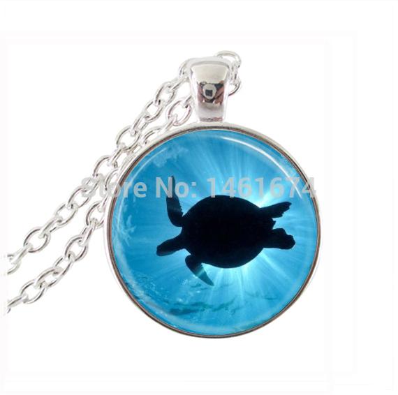 sea turtle necklace blue ocean beach jewelry marine life turtle jewelry animal statement necklace fashion jewellery wholesale(China (Mainland))