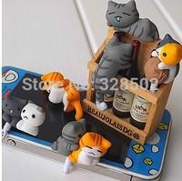 16pcs Kawaii gadget cat dust plug for iphone sumsang 3.5mm earphone jack plug for headphones free shipping
