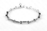 DAFU Classic Genuine round swiss zircon Fashion platinum For Party Attractive Dazzling Romantic Bracelet  03