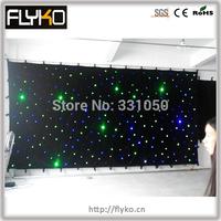Free shipping 3x6m RGB star curtain 18pcs/sq party decoration led star curtain