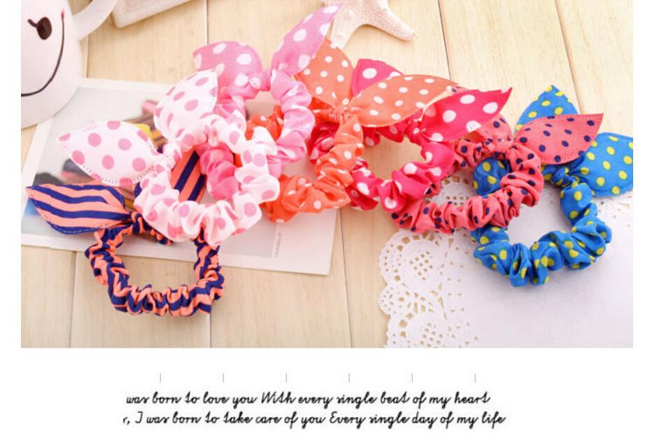6 piece Rabbit ear hairband headrope Korea edition jewelry wave point hair headdress(China (Mainland))