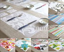 4pcs Fashion print pp placemat coasters disc pads bowl pad pot holder dining table mat coaster heat insulation pad Free shipping(China (Mainland))