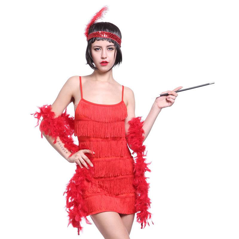 Flapper Girl Charleston Gatsby 6 layer Fancy Dress Costume-in Dresses ...