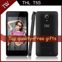 2014 latest THL T5 T5S Original Phone 4.7 inch QHD MTK6582 Quad Core 1.3GHz 1GB RAM 4GB Dual SIM GPS 8.0MP Camera Free Gifts
