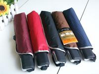 hot selling brand three elephants uv umbrella rain 5 color black blue red automatic folding umbrellas wholesale