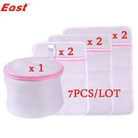 Life83 7pcs/lot Laundry bag set for clothes clothing lingerie wash wear(2pc30X40+2pc40X50+2pc50X60+1pc16X13CM)