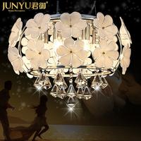 Royal European LED crystal chandelier modern minimalist living room bedroom lamps lighting lamp crystal lamp Restaurant