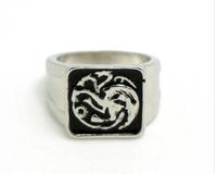 Game Of The Thrones Throne Targaryen Dragon Men Rings Exquisite Vintage Ring YP0082