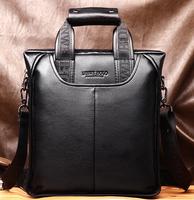 Promotion 2014 Hot Genuine Leather Handbag Designer Men Messenger Bag Business Shoulder Bag For Man Black Brown