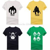Summer Halloween Marvel Avengers Logo Print T Shirts Men Captain American Tshirts Hulk Thor T-shirts