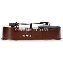 hot selling  USB Portable Mini Vinyl Turntable Audio Player Vinyl Turntable to MP3/WAV/CD Converter 33RPM Free Shipping(China (Mainland))