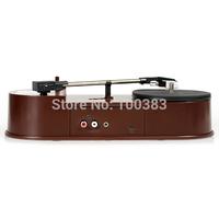 hot selling  USB Portable Mini Vinyl Turntable Audio Player Vinyl Turntable to MP3/WAV/CD Converter 33RPM Free Shipping