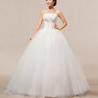 2014 New Arrival Off The Shoulder Floor Length Organza Elegant White Wedding  Dress HS146