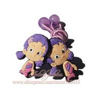 1pairs Bubble Guppies Cartoon Logo Cute Baby Girls Kids Hair Bands/Hair Clips/ Headwear /Hair Accessories,Baby Christmas Gift