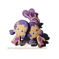 1pairs Bubble Guppies Cartoon Logo Cute Baby Girls Kids Hair Bands/Hair Clips/ Headwear /Hair Accessories,Baby Christmas Gift