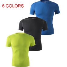 На открытом воздухе короткий рукав воздухопроницаемый компактно упаковываемый футболки спорт одежда тай fit нижнее белье езда на велосипеде база слой