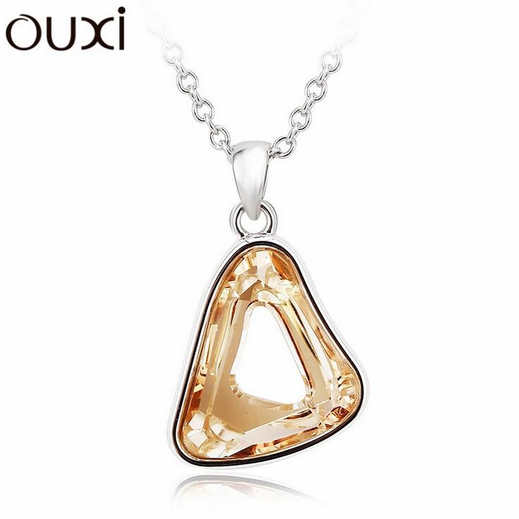 Best Quality Women Necklace Pendant Jewelry Triangle Jewlery Made with Swarovski Elements Crystals from Swarovski OUXI