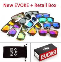 Brand designer EVOKE Amplifier Cycling sun Glasses Men women Sport vintage evoke Squared Sunglasses oculos de sol + retail box