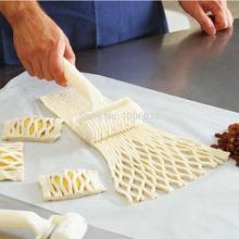 Herramienta Hornear plástico Cookies Pie Pizza Pastelería Entramado rodillo cortador Craft freeshiping(China (Mainland))