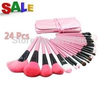 A Set 24Pcs Professional Synthetic Hair Makeup Brush Set Kit Makeup Brushes & tools Brand Make Up Brush Set Case With PU Bag