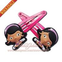 2014 New ,2pcs Doc McStuffins Girls Hiar Ropes,Hair Bands,Baby Girls Hair Accessory,Girls Hairpins,Cartoon Hair Clips,mini pins