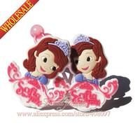 2014 New ,2pcs Princess Sofia Girls Hiar Ropes,Hair Bands,Baby Girls Hair Accessory,Girls Hairpins,Cartoon Hair Clips,mini pins