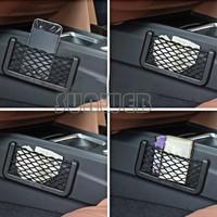2014 New 19.5X8cm Automotive Bag With Adhesive Visor Car Net Organizer Pockets Net Drop Shipping SV07 SV010358