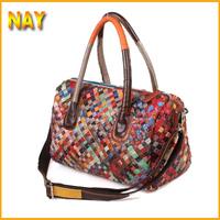 Free shipping 2015 Hot Selling Women Leather Handbag Tote Shoulder Bags Weave Messenger Bags Fashion Design