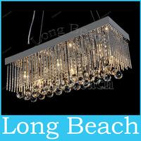 Simple Fashion K9 Crystal Chandeliers restaurant luxury fashion rectangle crystal bar lamp chandelier 80*25*25 cm