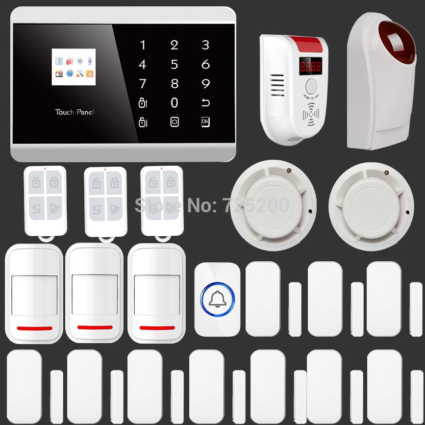 Датчики, Сигнализации Secrui Android/iOS APP GSM & PSTN + PT2262 EV1527 KR-8218G датчики