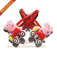 2014 New + Wholesale ,2pcs/pair,Peppa pig Girls Hair Accessory,cartoon hair Clips, kids cartoon hairpins,Kids Partry Gifts