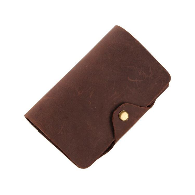 New handwork design 100% genuine leather men's wallet Vintage Crazy Horse Cowhide zero purse card holder Free shipping(China (Mainland))