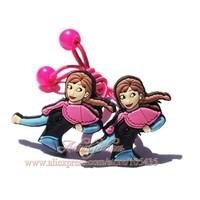 1pairs Frozen ( Elsa & Olaf & Anna ) Cartoon Logo Cute Baby Girls Kids Hair Clips / Hair Bands/Hair Accessories,Christmas Gift