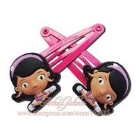 2014 New Style,1pairs Doc Mcstuffins Cartoon Logo Cute Baby Girls Kids Hair Clips/Hairs Bands/Hair Accessories/Headwear,Kid Gift