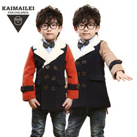 2 Colors Kids Coat Wool & Blends Trench Coat Boys Jacket Children's Clothing Outerwear & Coats Long Sleeve Double Breasted CW-30
