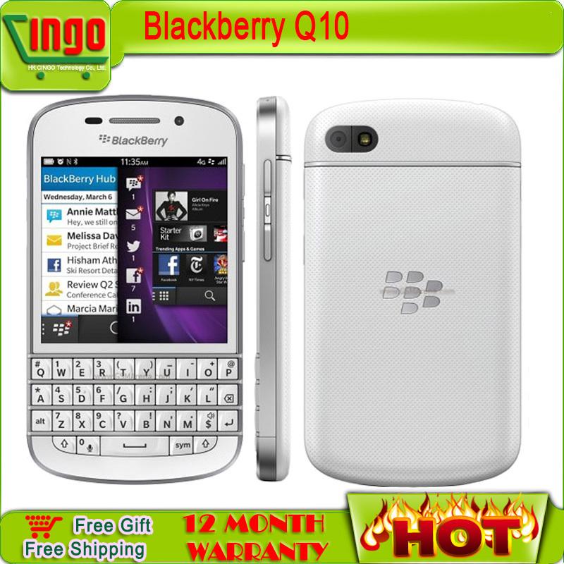 Original Blackberry Q10 Unlocked Mobile Phone 3G 4G Network 8.0MP Dual-core 1.5 GHz 2G RAM+16G ROM Free shipping(China (Mainland))