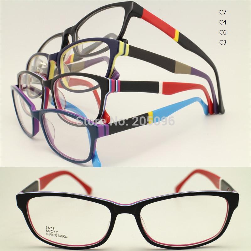 wholesales 6573 timless full-rim mutiple color temple square shape drop sales slim acetate optical eyeglass frames free shipping(China (Mainland))