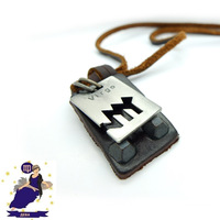 Free Shipping, 2014 The Zodiac Series -Virgo Charms Genuine Long Leather Necklace Sweater Chain for Men Woman Birthday Gift