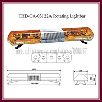 "Wholesale Price!! TBD-GA-03122A Rotator lightbar + 100W siren + 100W speaker, High Quality Halogen lamps, 47"" Length, PC lens"