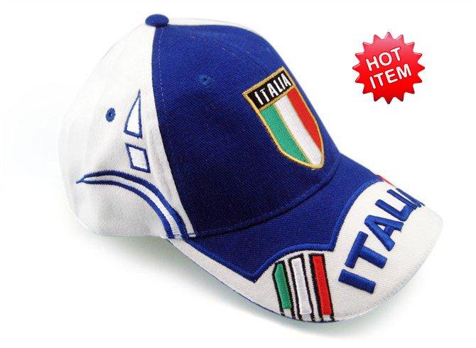 Pkfn berretto da baseball del ricamo- Italia; spedizione gratuita, italia i tifosi di calcio sport cap