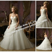 2013 Style New Organza With Lace Sweetheart Wedding Dress ML511