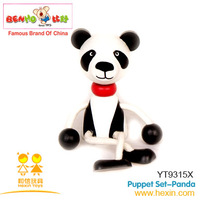 Puppet toy-Panda wooden toys non-toxic high quality (panda,wood puppet,baby doll )