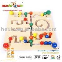Beads Sequencing Rack (wooden beads rack)