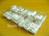 Free Shipping - 500 pcs x White French Style False Nail Art Tips with BOX - NA051