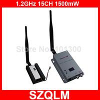 1.2GHz 1500mW wireless AV sender and receiver Free Shipping