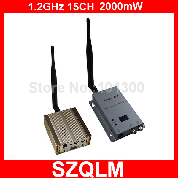 1.2GHz 2000mW wireless video sender and receiver Free Shipping(China (Mainland))