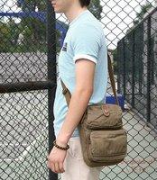 Guarantee 100% Cotton Canvas Vintage Washed Canvas Shoulder Bag 2461 Army Green Khaki Black