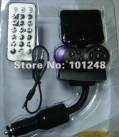 New A2DP car bluetooth handsfree kit + mp3 player fm transmitter modulator + sd/mmc/tf /usb + support double mobiles AT-B001B