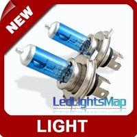DHL EMS UPS Free Shipping Original 2 H4 Xenon Car Headlight Bulbs White 6000K I04 [LedLightsMap ]
